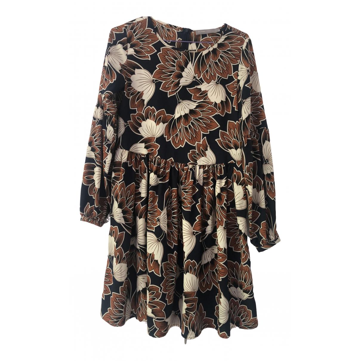Hallhuber \N Kleid in  Braun Seide