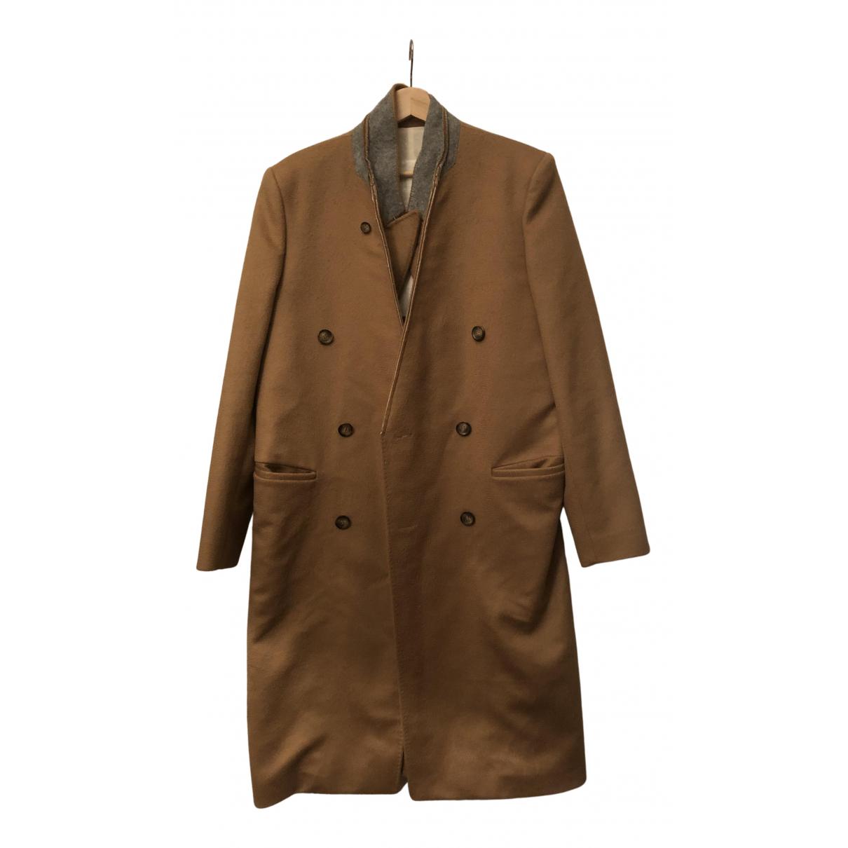 Maison Martin Margiela Pour H&m - Manteau   pour homme en laine - camel