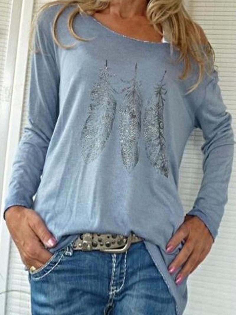 Ericdress Plant Standard Long Sleeve Women's Slim T-Shirt