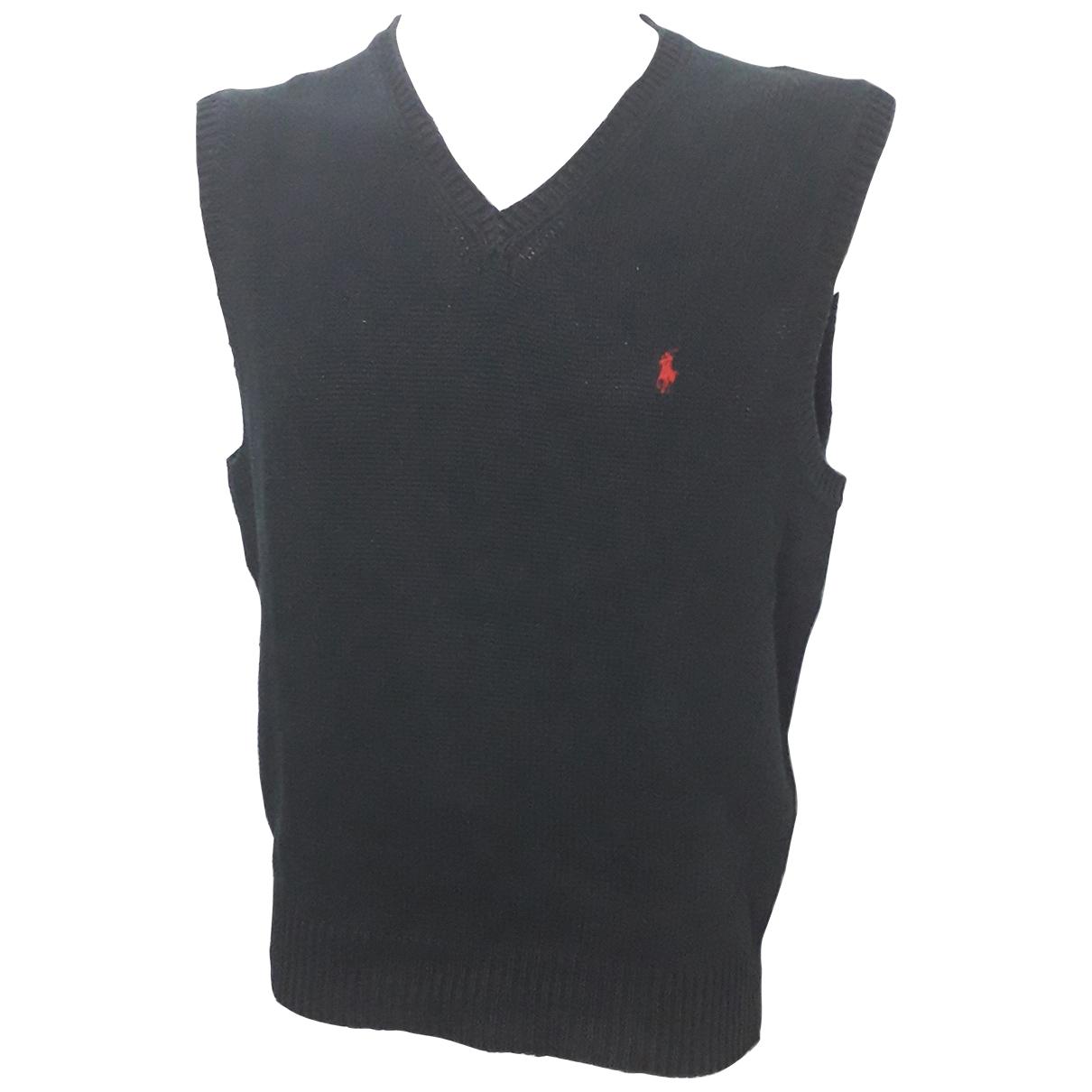 Polo Ralph Lauren - Pulls.Gilets.Sweats   pour homme en lin - noir