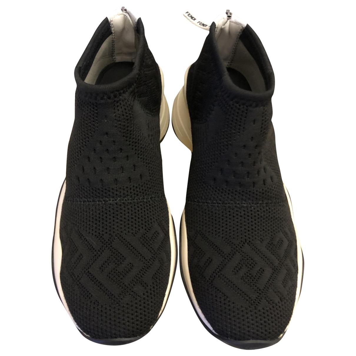 Fendi \N Sneakers in  Schwarz Polyester