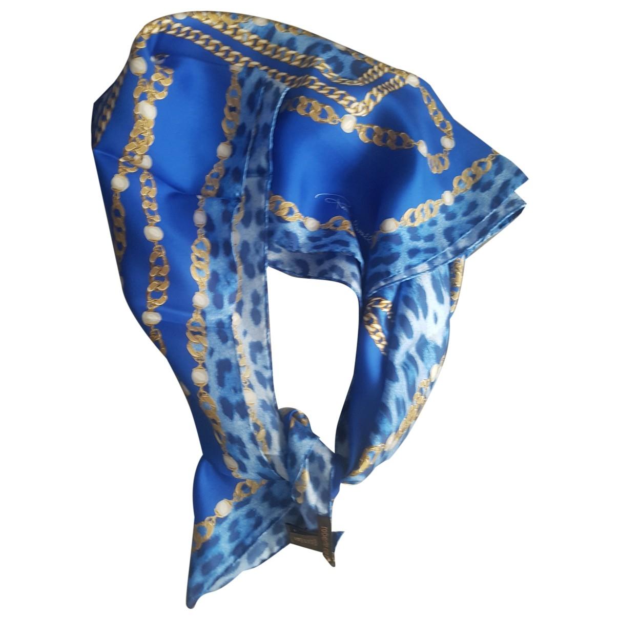 Roberto Cavalli \N Schal in  Blau Seide