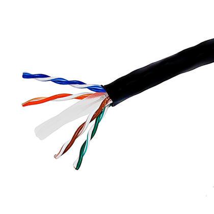 Cat6 23AWG UTP câble en vrac solide, classé CM, 1000pi - PrimeCables® - noir