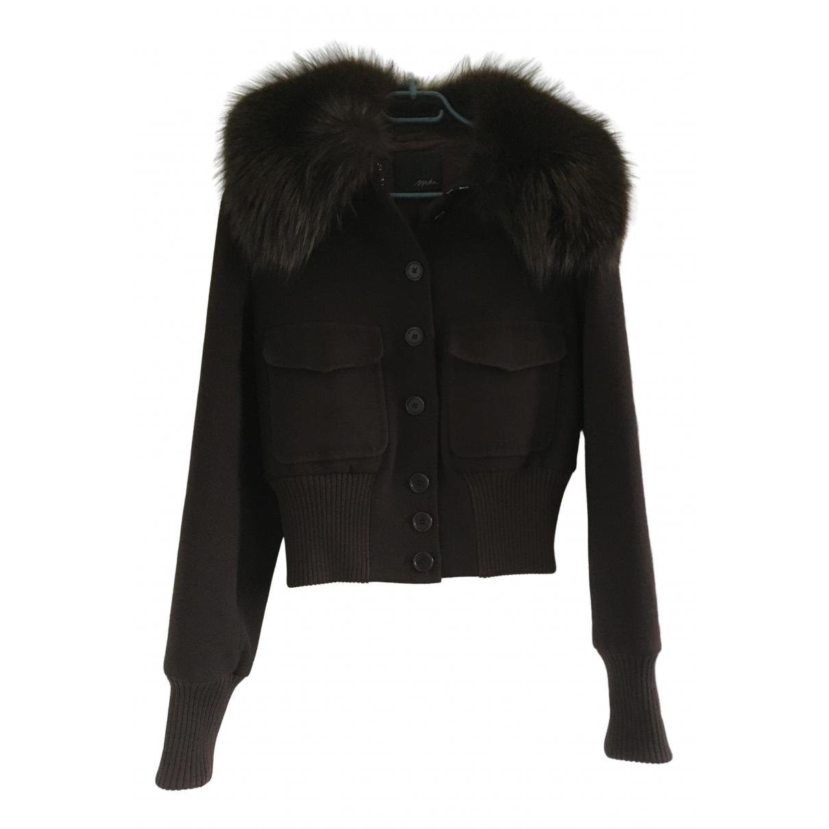Maska - Veste   pour femme en laine - marron