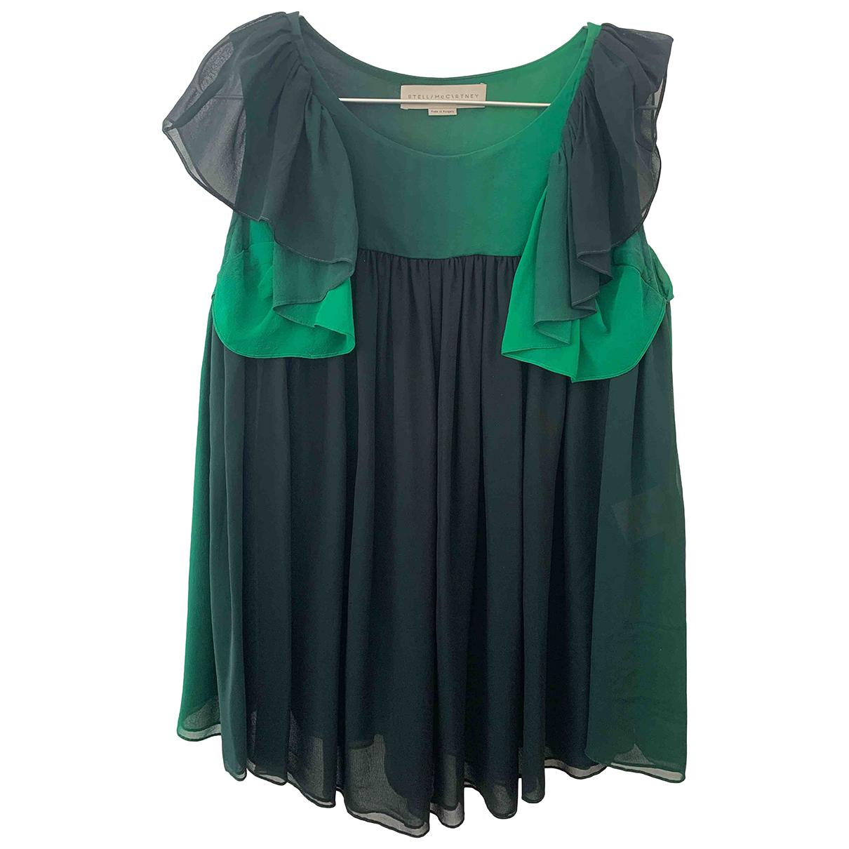 Stella Mccartney - Top   pour femme en soie - vert