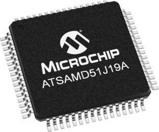 Microchip ATSAMD51J19A-AU, 32bit ARM Cortex M4 Microcontroller, SAM D5, 120MHz, 512 kB Flash, 64-Pin TQFP (160)