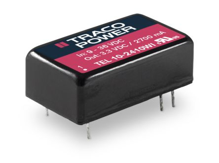 TRACOPOWER TEL 10WI 10W Isolated DC-DC Converter Through Hole, Voltage in 9 → 36 V dc, Voltage out ±12V dc