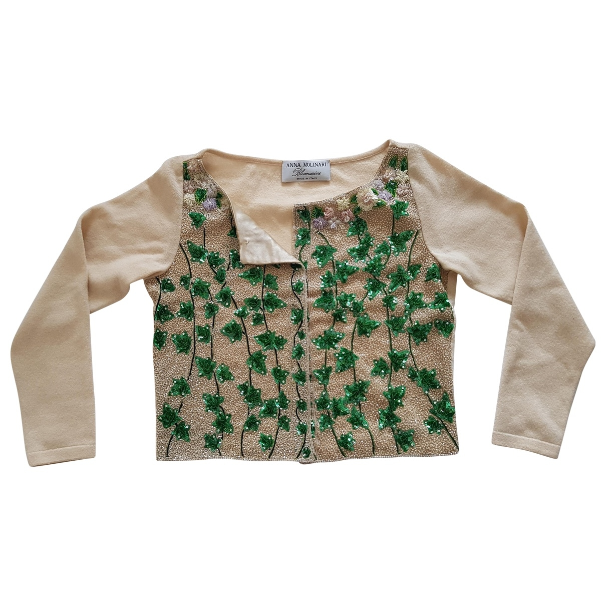 Anna Molinari - Pull   pour femme en laine - ecru