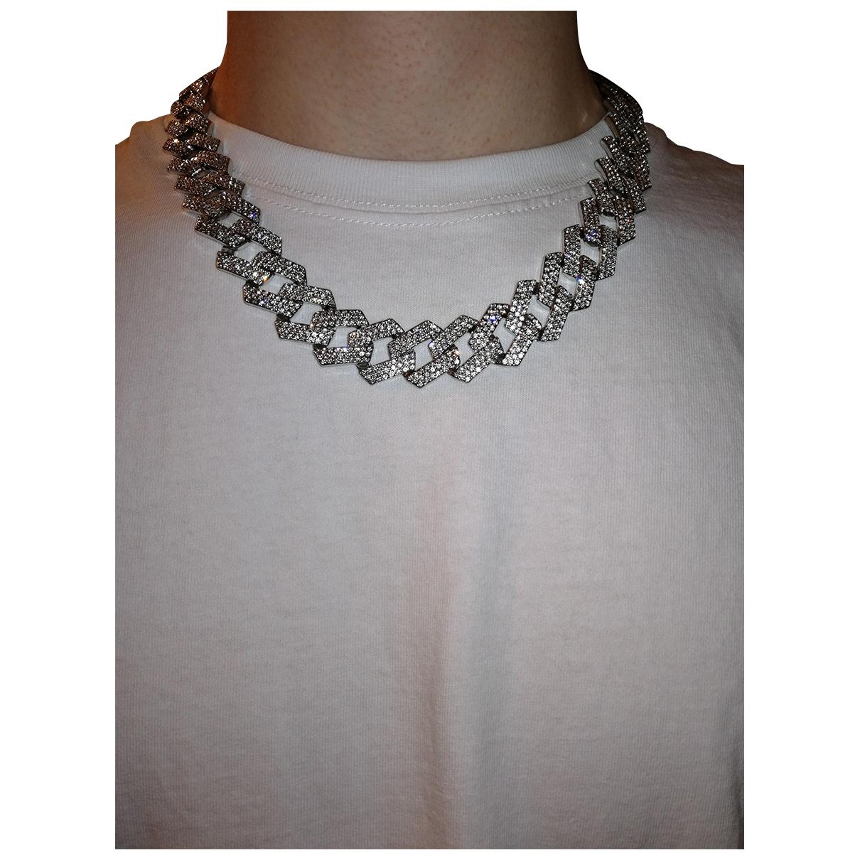 - Bijoux   pour homme en acier - argente