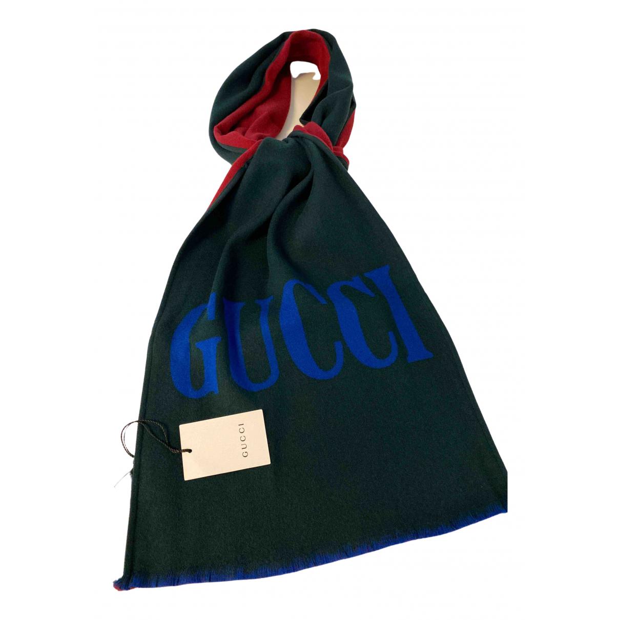 Gucci \N Tuecher, Schal in  Gruen Wolle