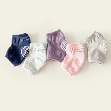 5pairs Baby Letter Graphic Knee Pad