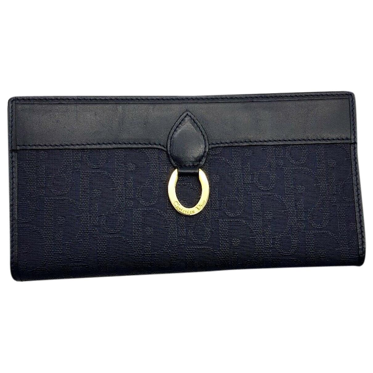 Dior \N Portemonnaie in  Marine Leinen