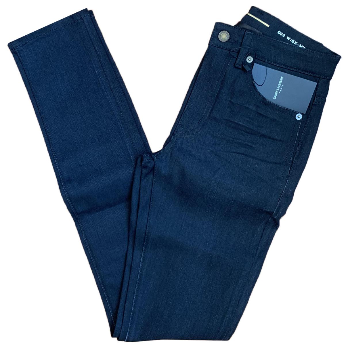Saint Laurent N Black Cotton Jeans for Women 24 US
