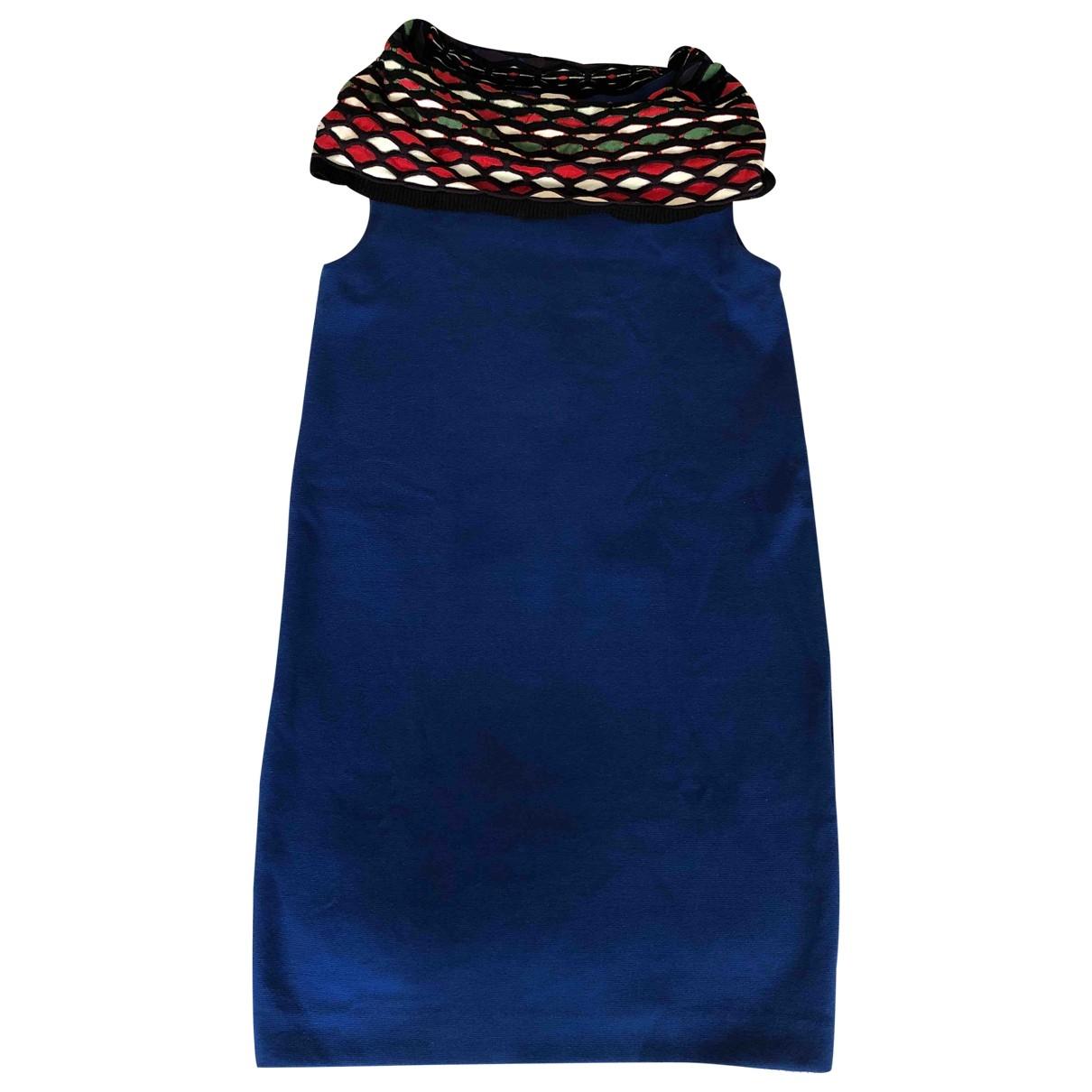 M Missoni - Robe   pour femme en coton - bleu