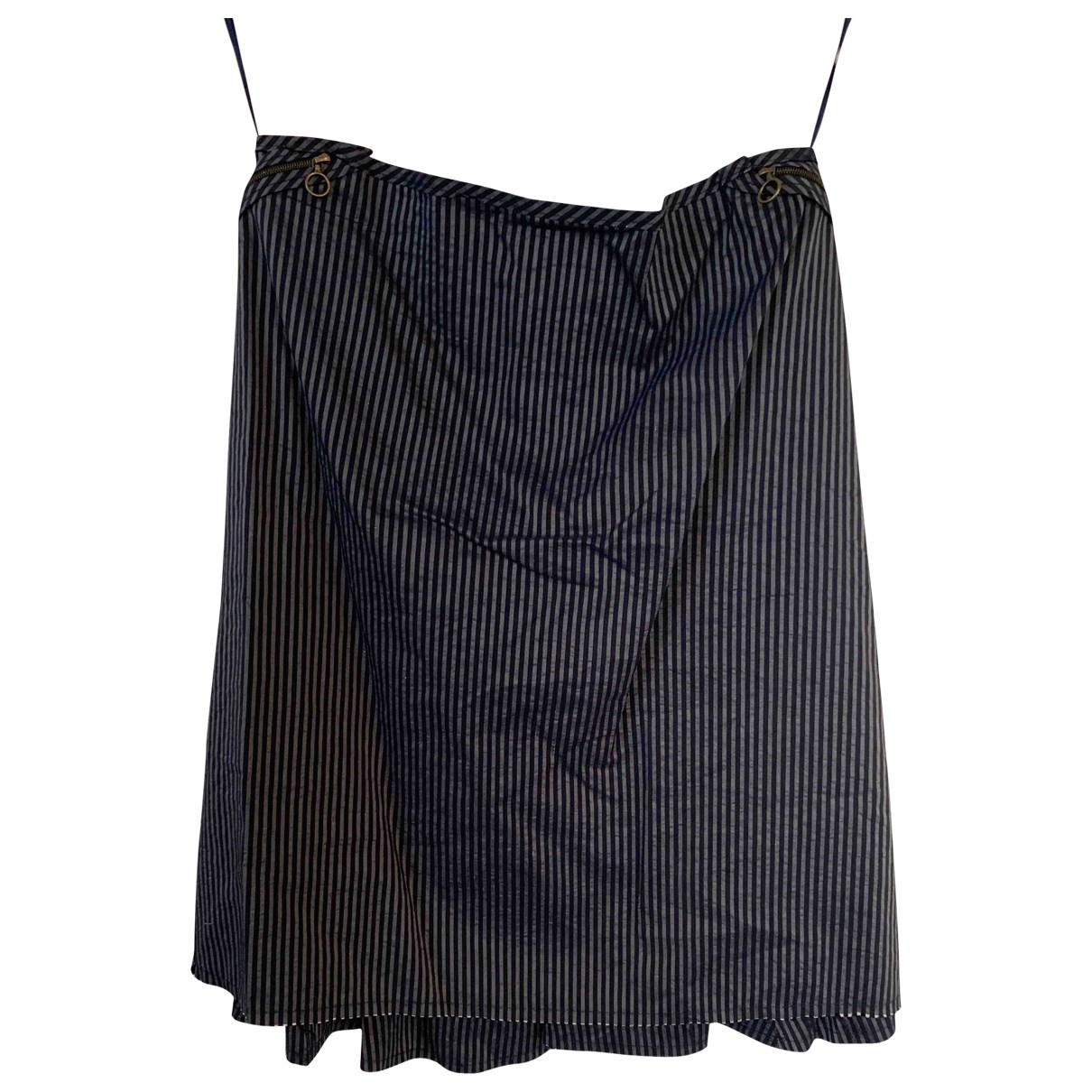 Lanvin \N Blue Silk skirt for Women 40 FR