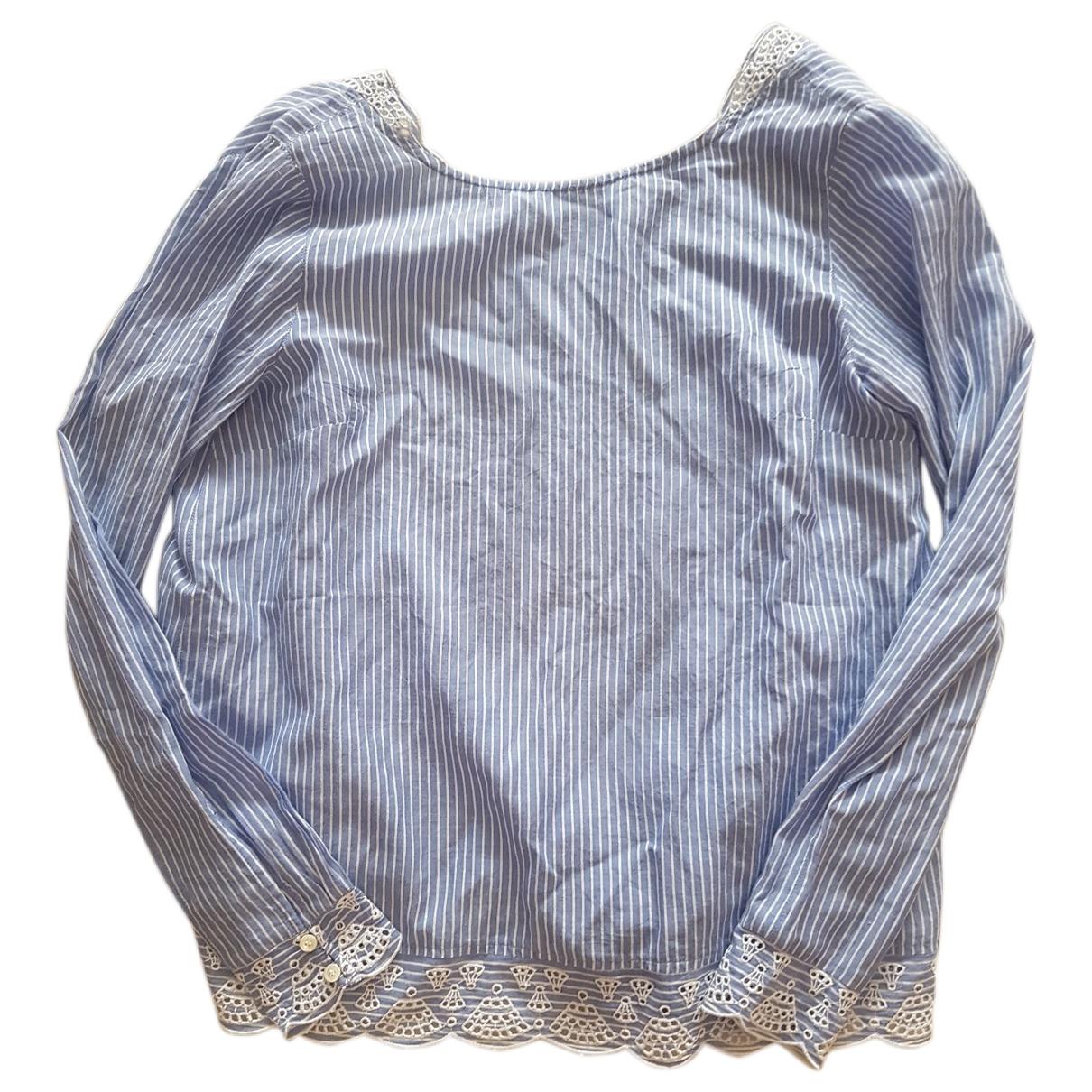 Sezane - Top   pour femme en coton - bleu