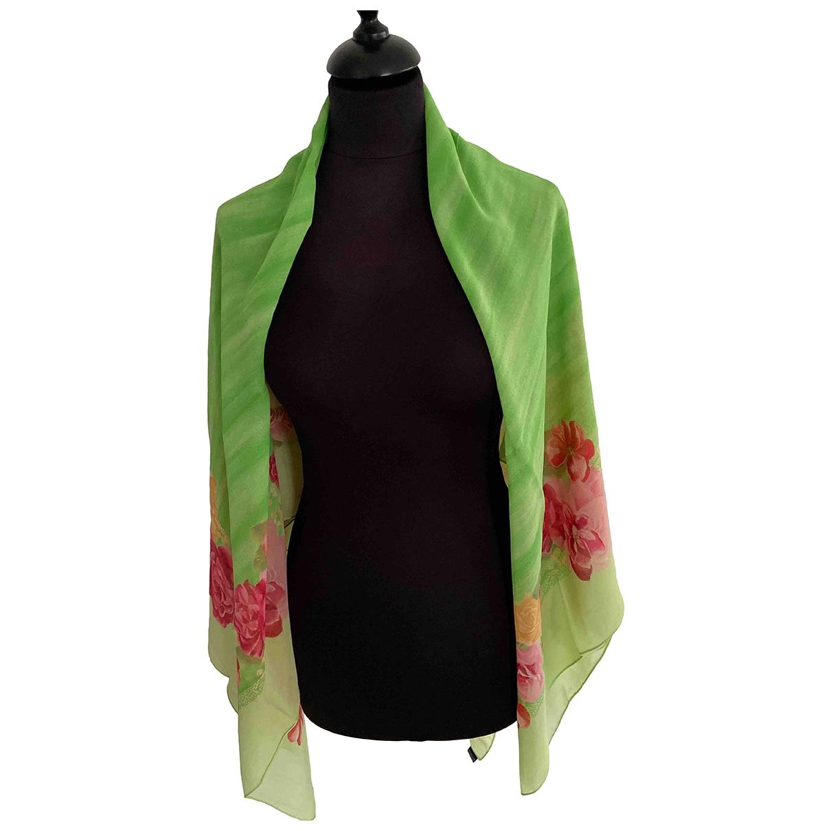Blumarine \N Green Silk scarf for Women \N