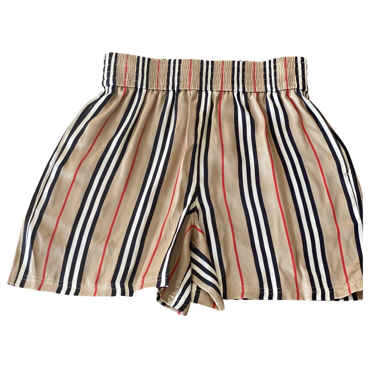 Burberry \N Brown Silk Shorts for Women 4 UK