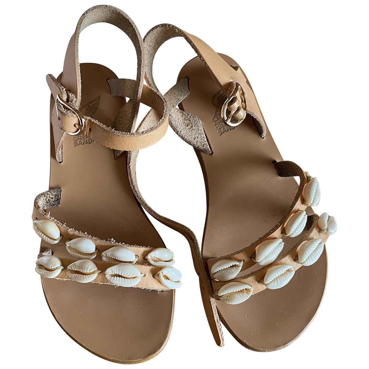 Ancient Greek Sandals - Sandales   pour enfant en cuir - beige