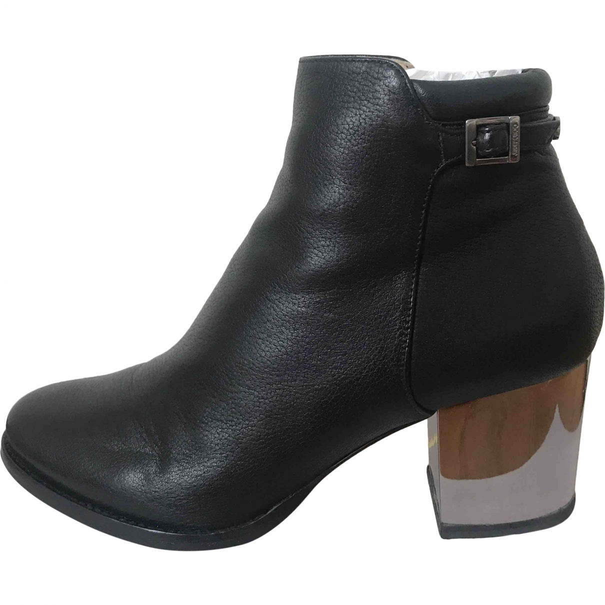 Jimmy Choo \N Black Leather Ankle boots for Women 38.5 EU