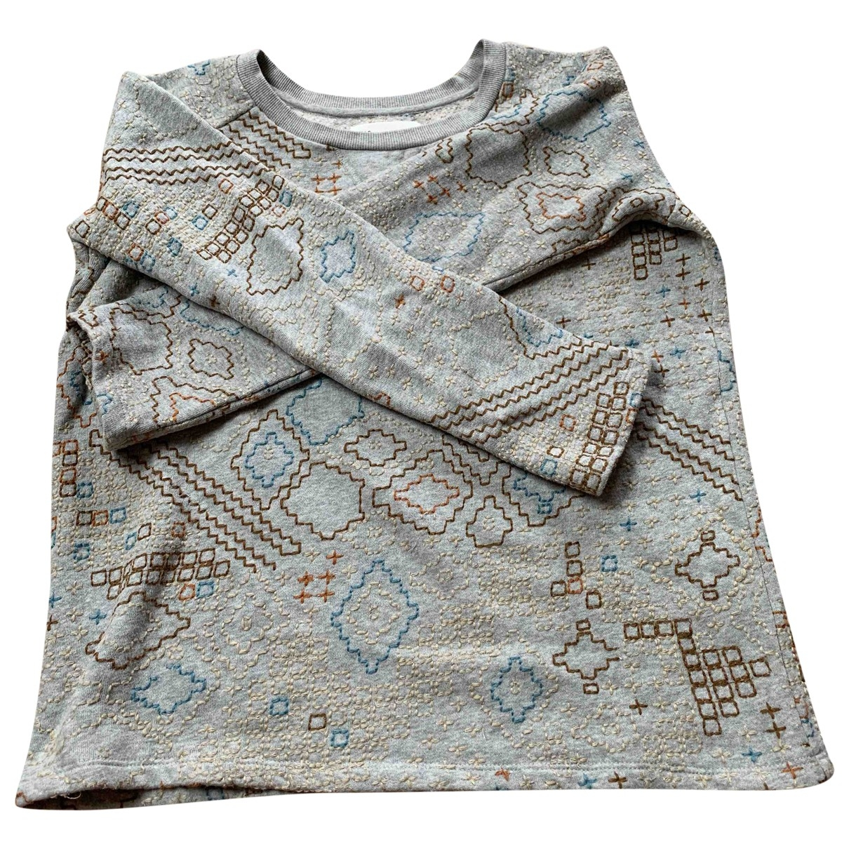 Leon & Harper - Pull   pour femme en coton - gris
