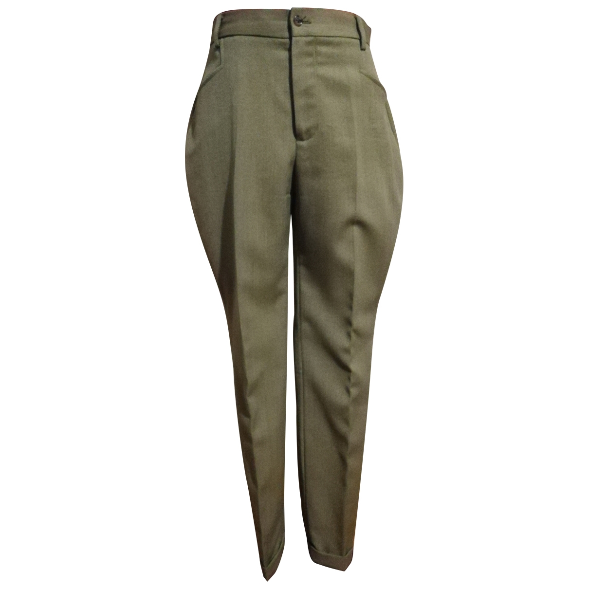 Ralph Lauren \N Khaki Wool Trousers for Women 6 UK