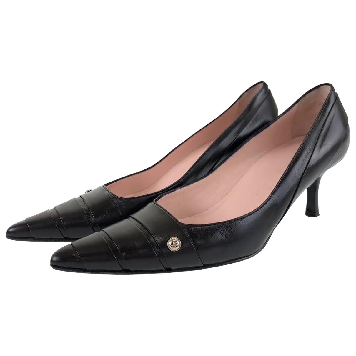 Chanel - Escarpins   pour femme en cuir
