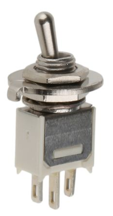 APEM SPST Toggle Switch, Latching, Panel Mount (3)