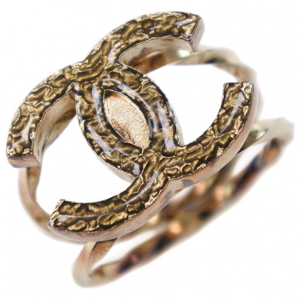 Chanel CC Ring in  Gold Vergoldet