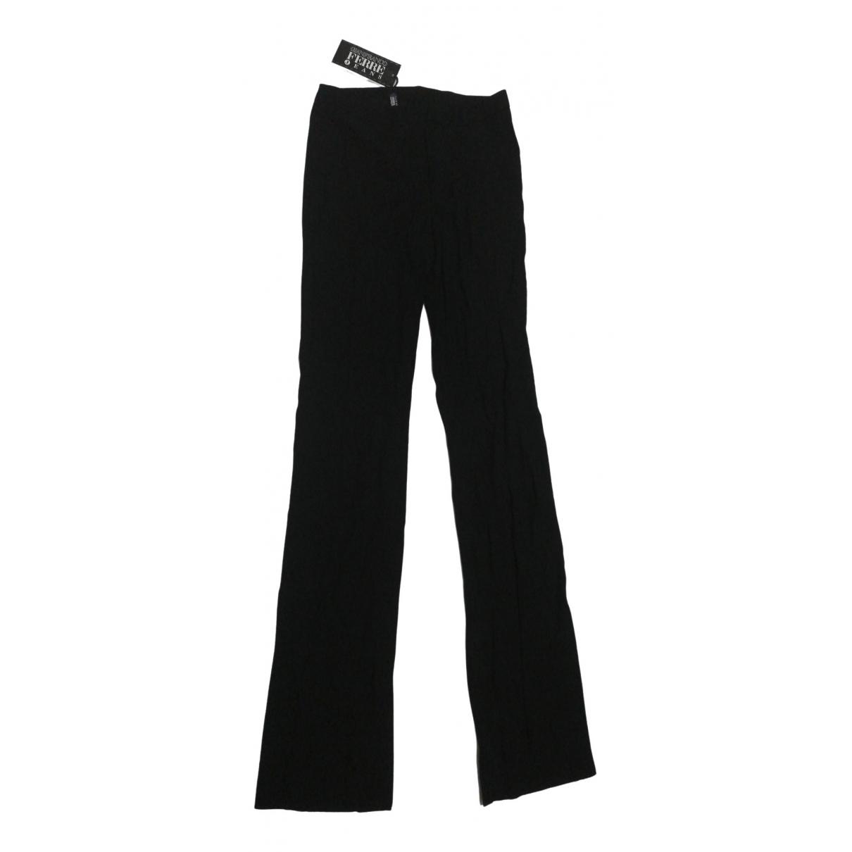 Gianfranco Ferré \N Black Wool Trousers for Women 40 IT