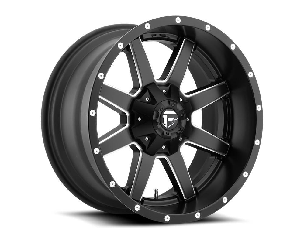 Fuel D538 Maverick Black & Milled 1-Piece Cast Wheel 22x10 8x180 -24mm