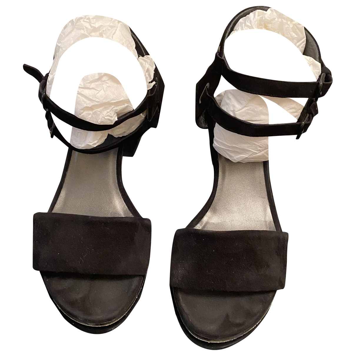 Stuart Weitzman \N Black Suede Sandals for Women 38 IT