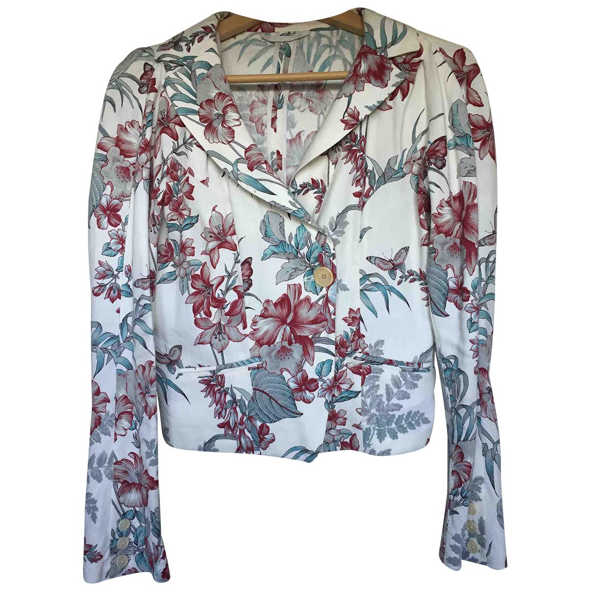 Etro - Veste   pour femme en lin - multicolore