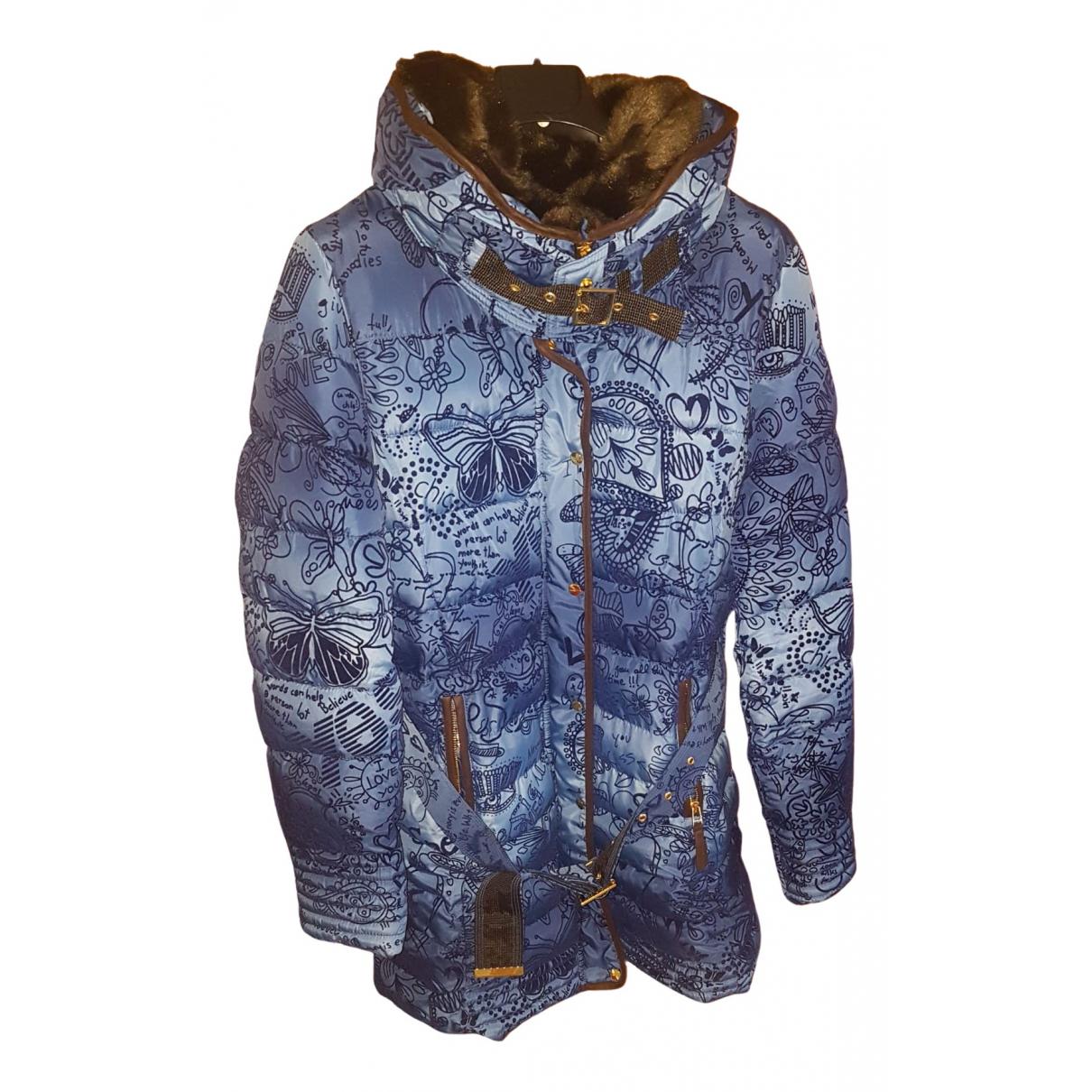 Desigual - Manteau   pour femme - bleu