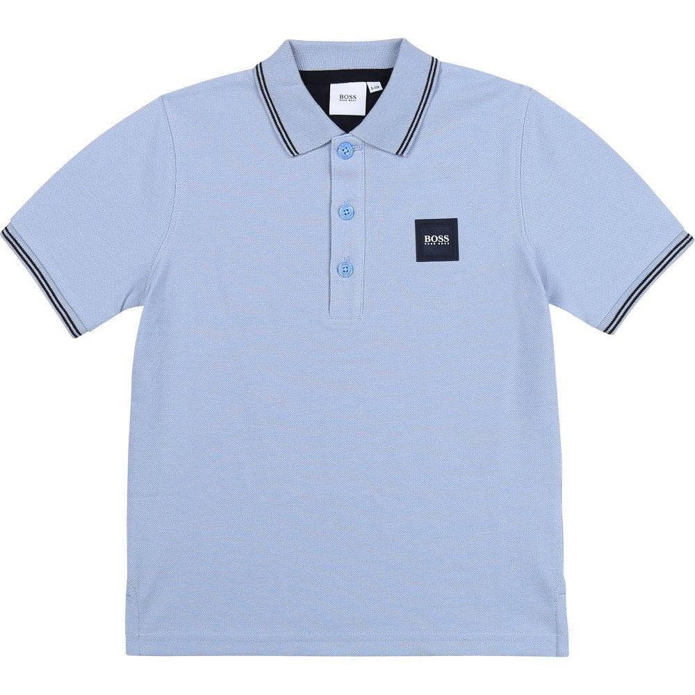 Hugo Boss Pique Polo Shirt Colour: BLUE, Size: 14 YEARS