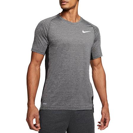 Nike Mens Crew Neck Short Sleeve T-Shirt, X-large , Black