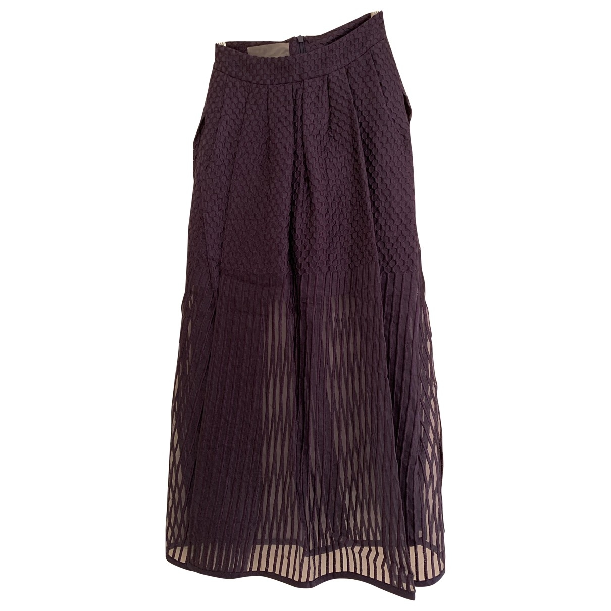 Non Signé / Unsigned \N Blue Cotton skirt for Women XS International