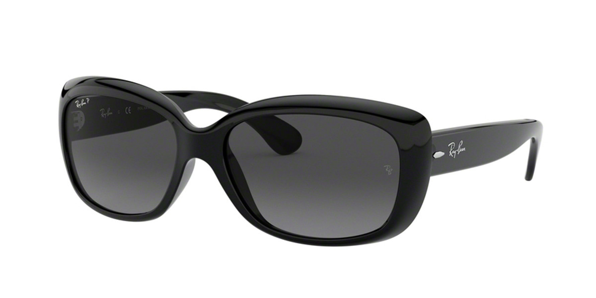 Ray-Ban RB4101F Jackie Ohh Asian Fit Polarized 601/T3 Women's Sunglasses Black Size 58