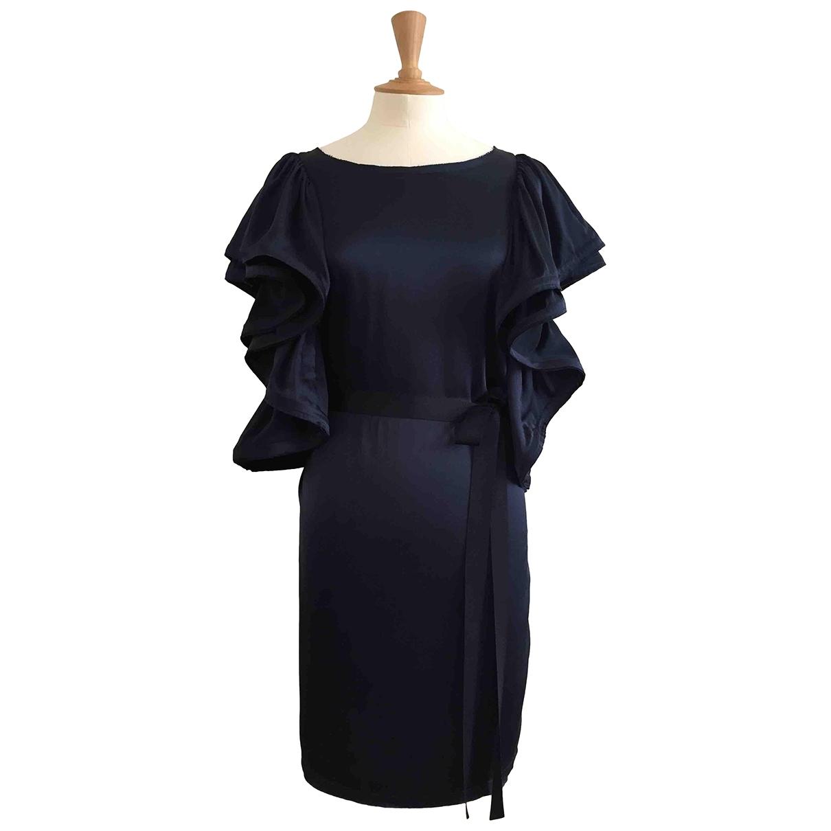 Lanvin For H&m \N Kleid in  Marine Seide