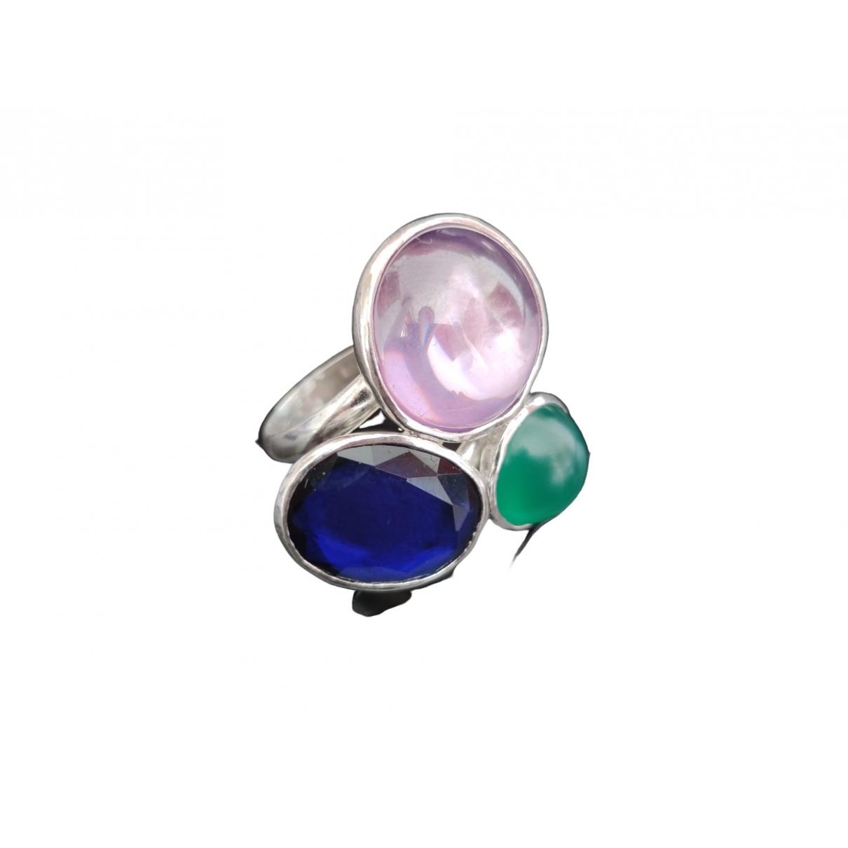 - Bague   pour femme en argent - multicolore