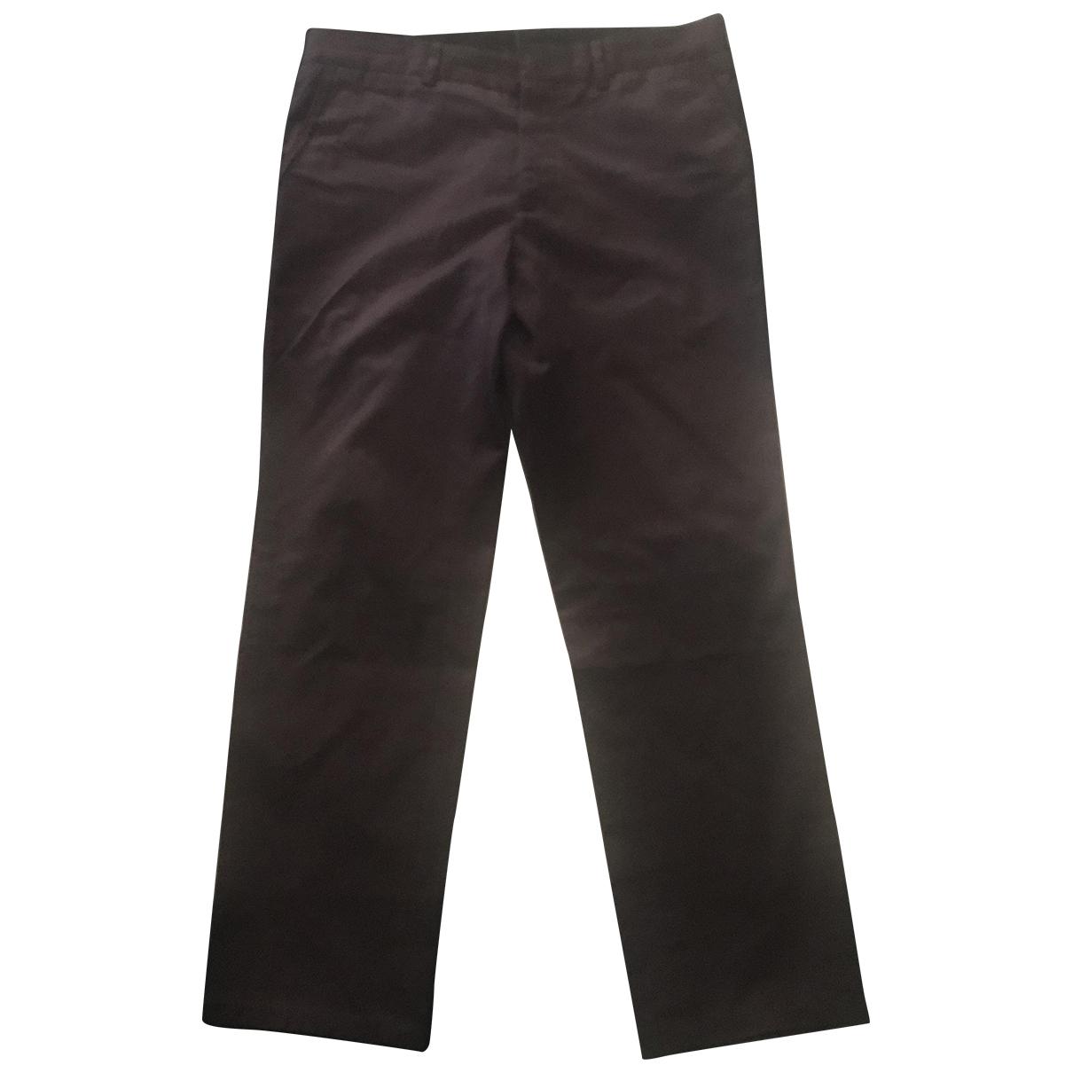 Pantalones en Algodon Burdeos Lanvin