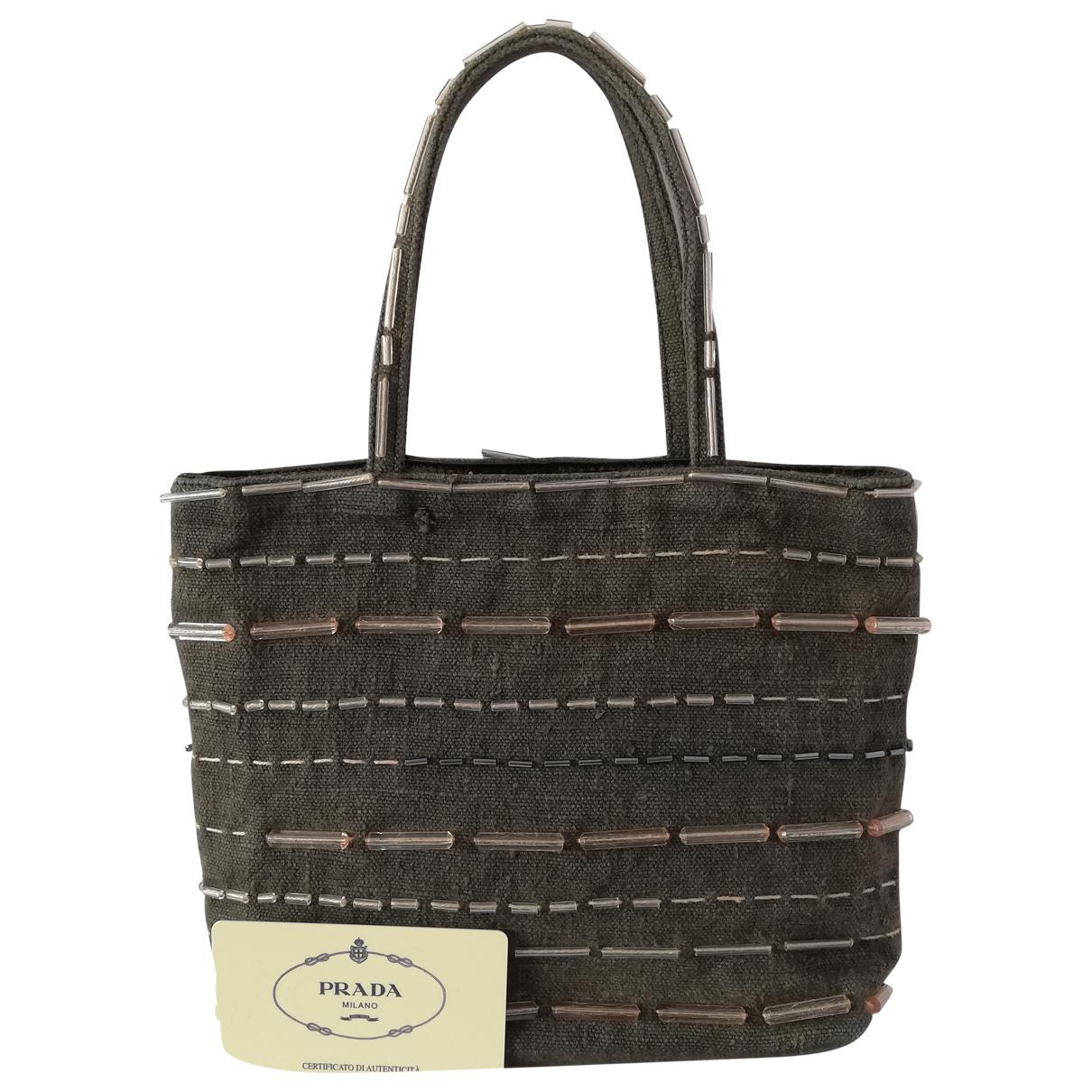 Prada \N Handtasche in  Grau Leinen