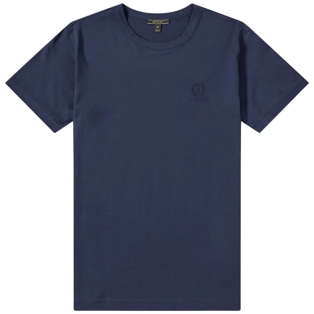 Belstaff Short Sleeve Logo T-Shirt Colour: NAVY, Size: EXTRA EXTRA LARGE