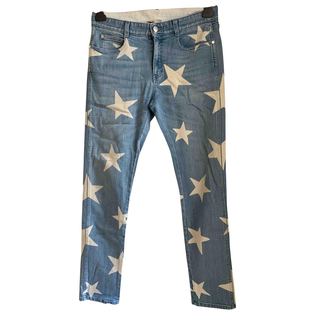 Stella Mccartney \N Blue Cotton Trousers for Women 42 IT