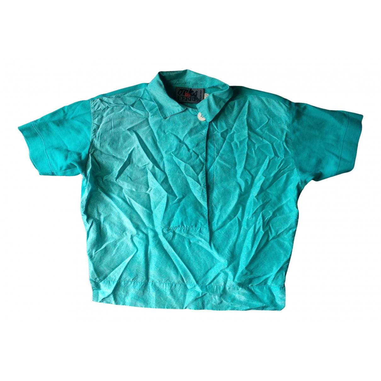 Gianfranco Ferré N Turquoise Silk  top for Women 42 IT