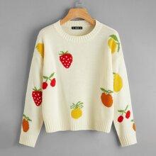 Drop Shoulder Fruit Sweater