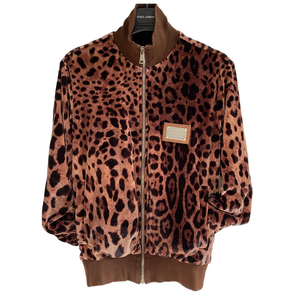 Dolce & Gabbana \N Jacke in  Braun Polyester