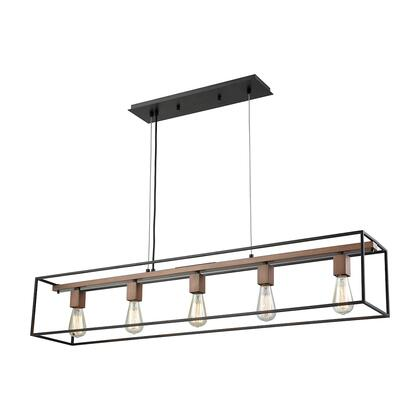 14463/5 Rigby 5-Light Chandelier in Oil Rubbed Bronze and Tarnished