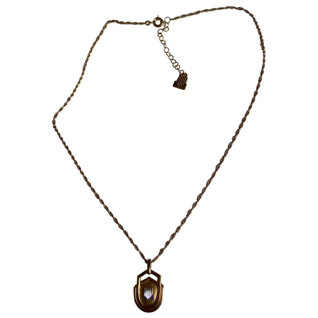 Lanvin - Collier   pour femme en metal - dore
