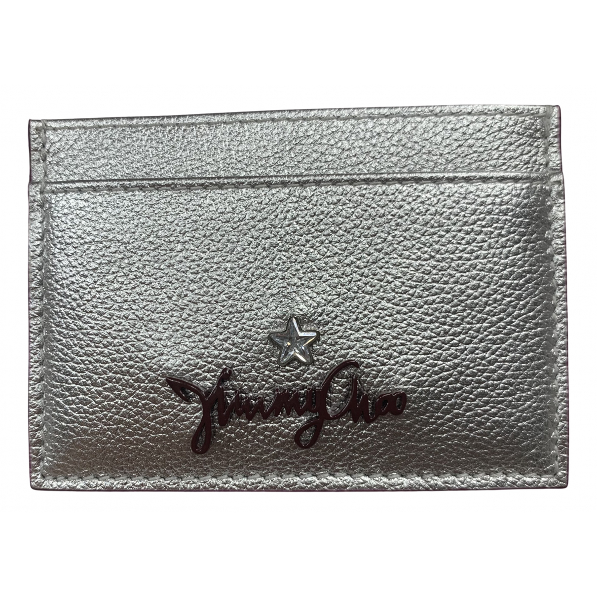 Jimmy Choo \N Kleinlederwaren in  Silber Leder